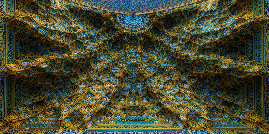 Потолок харама Фатимы Масумы, Кум, Иран