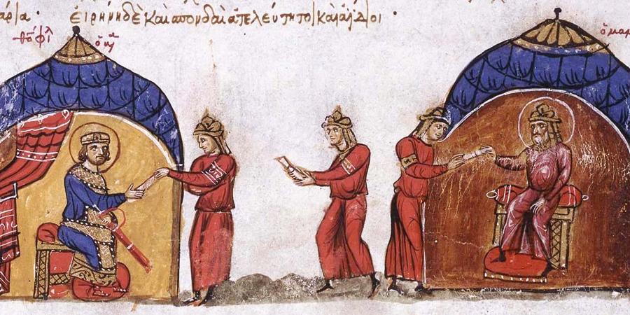 Мамун посылает гонца к византийскому императору Феофилу