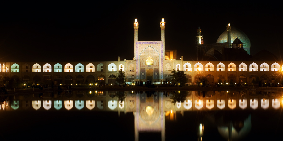 Площадь Имама ночью, Исфахан, Иран