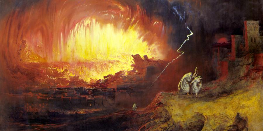 Джон Мартин, «Уничтожение Содома и Гоморры», 1852