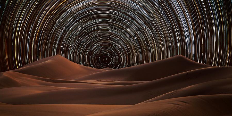 280 фотографий звёздного неба над пустыней в одной, Саудовская Аравия