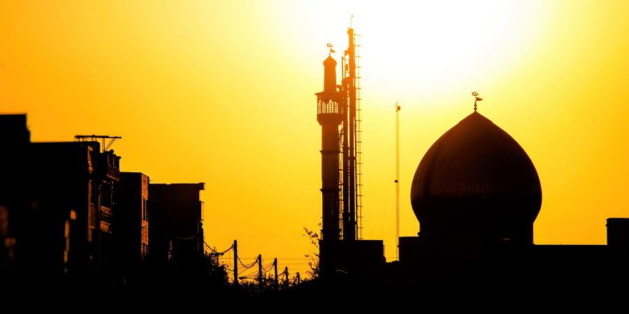 Тегеранская мечеть на закате, Иран