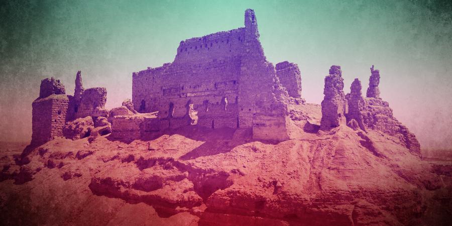 Руины крепости Ар-Рахба в Сирии