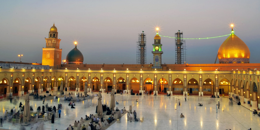 Вечерняя панорама мечети Куфы, Ирак