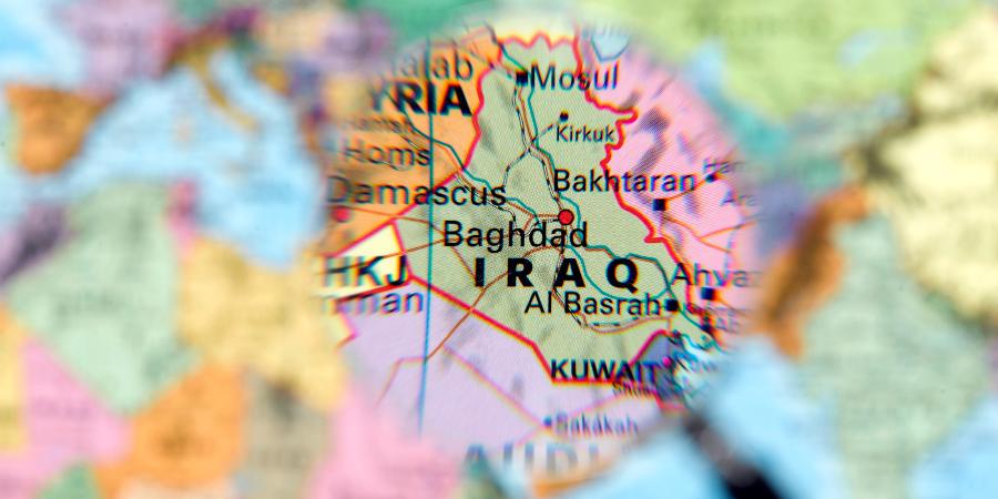 Карта Ирака под лупой