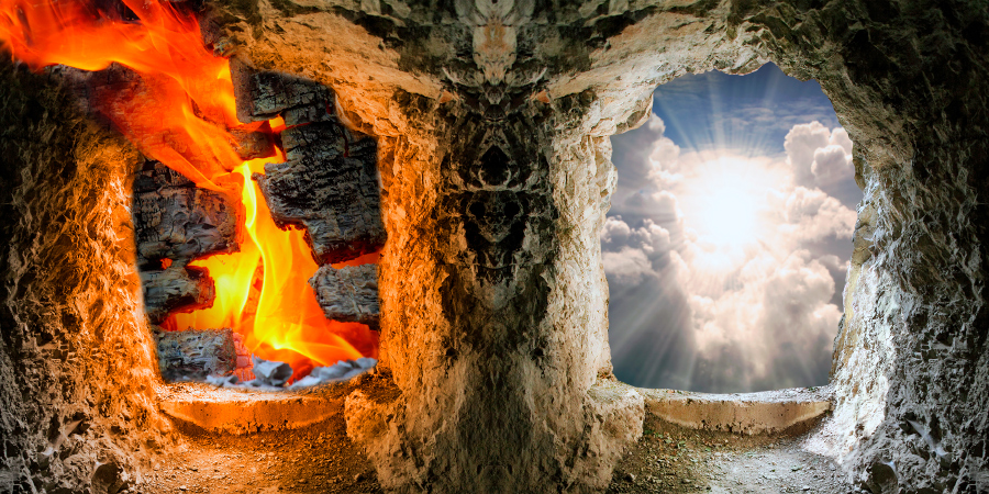 Символическое изображение проходов в Ад и Рай