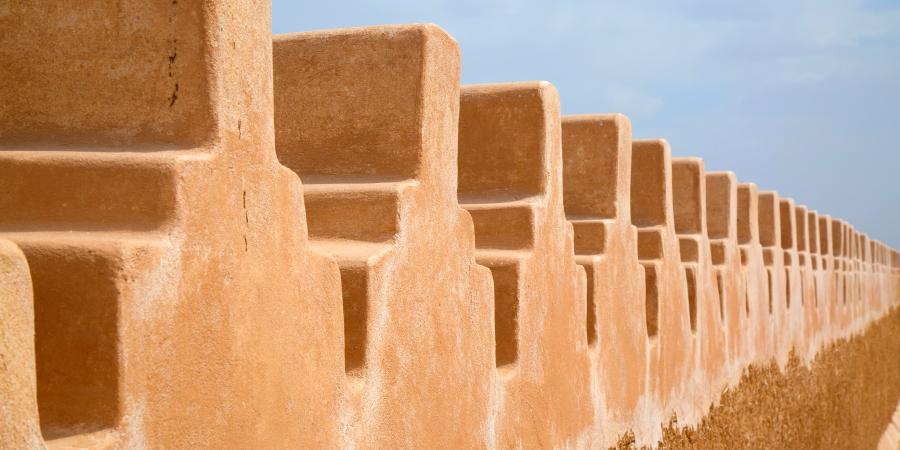 Стены древнего арабского города