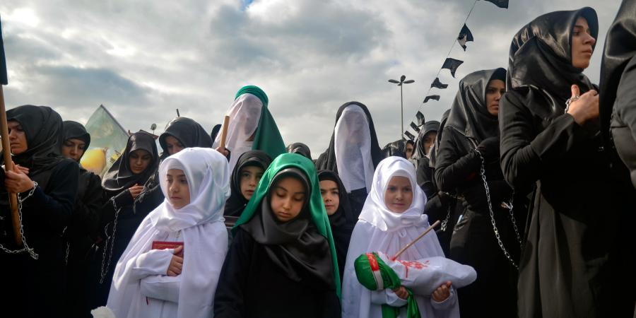 Театральная постановка во время траурных церемоний по Имаму Хусейну, Стамбул, Турция