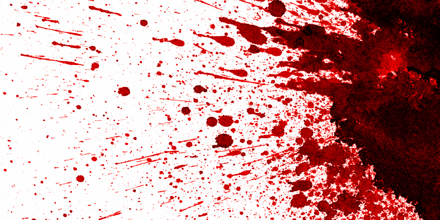 Кровь на белом фоне