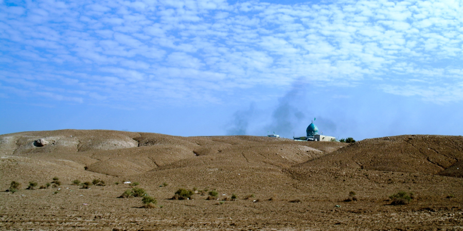 Вид на мечеть Ибрахима, Борсиппа, Вавилон, Ирак