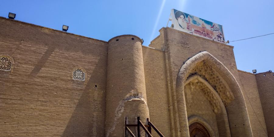Ворота в стене вокруг мечети Куфы, Ирак