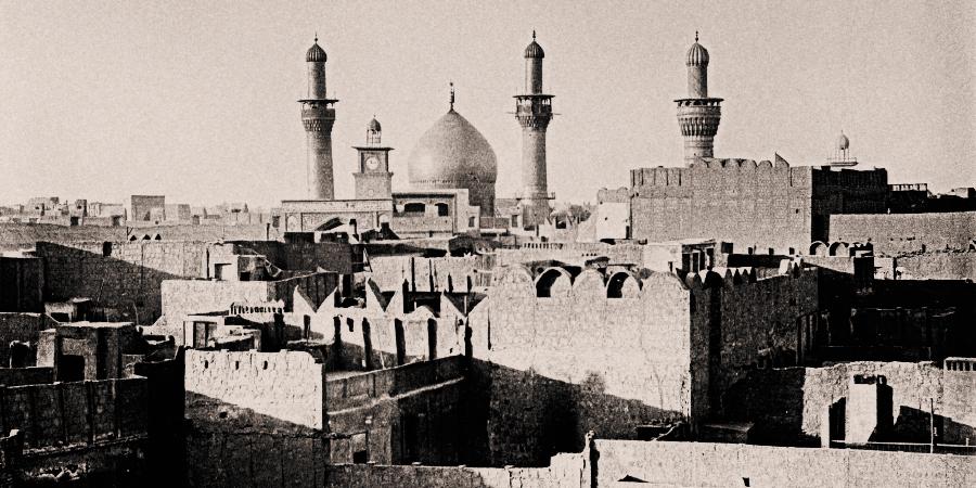 Старинная фотография Кербелы, Ирак, 1932 г.