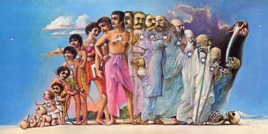 Изображение жизненного цикла индийского мужчины