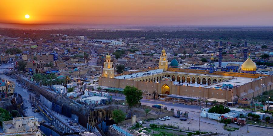 Мечеть Куфы с высоты птичьего полёта, Наджаф, Ирак