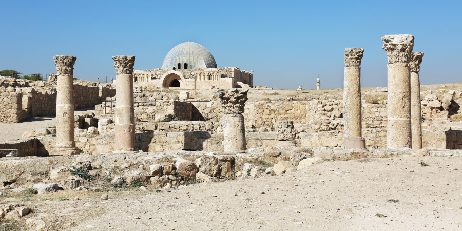 Руины дворца Омейядов, Амман, Иордания