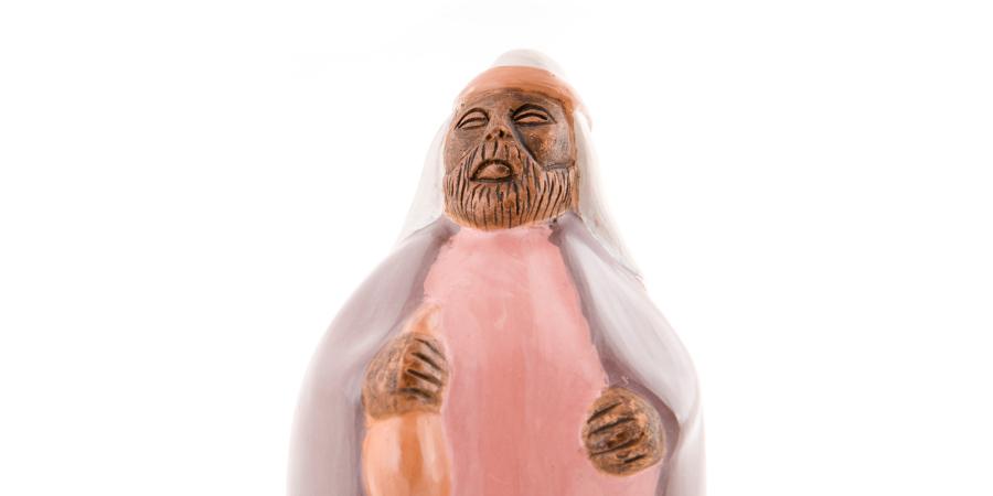 Фигурка толстого араба с бурдюком