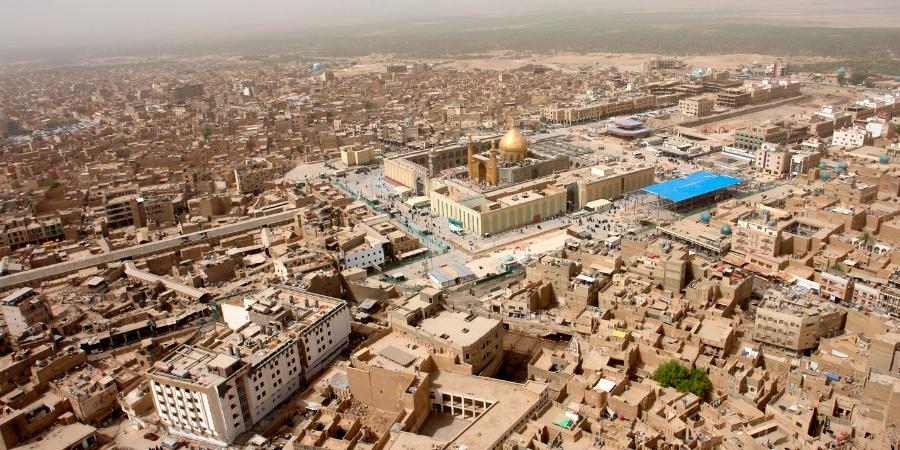 Харам Имама Али с высоты птичьего полёта, Наджаф, Ирак