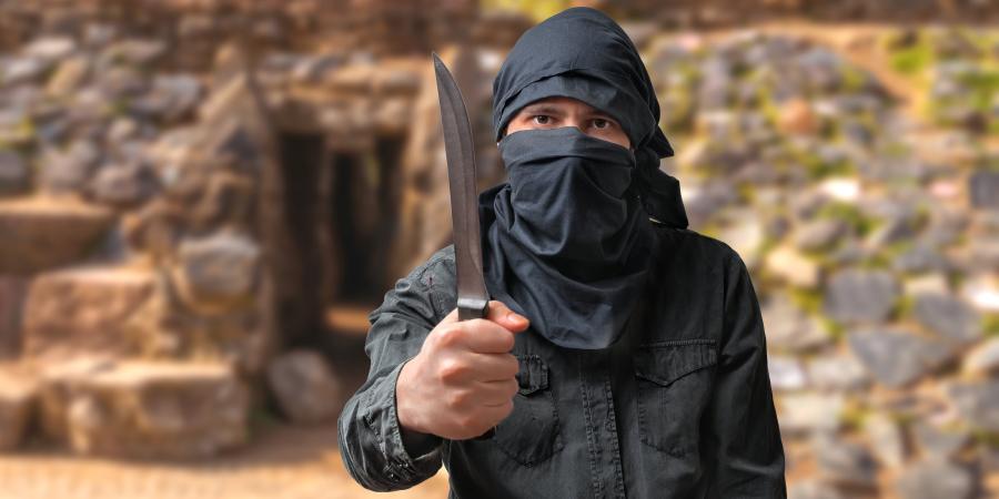 Террорист с ножом