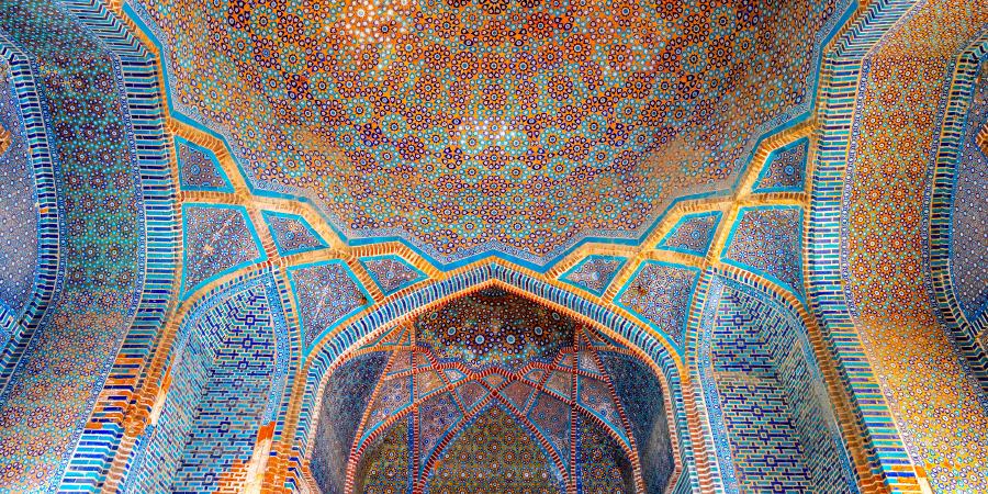 Интерьер мечети Шах-Джахана, Татта, Пакистан